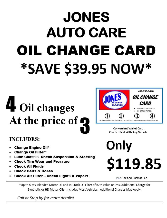 Oil Card Special